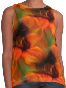Orange Brown And Green Abstract Colors Contrast Tank