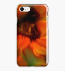 Orange Brown And Green Abstract Colors iPhone Case/Skin