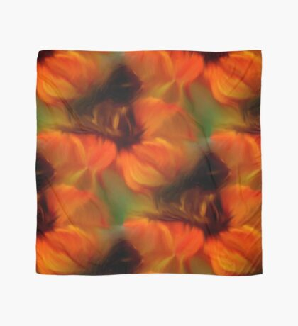 Orange Brown And Green Abstract Colors Scarf