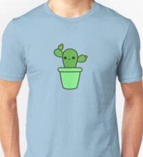 Cute cactus in green pot Unisex T-Shirt