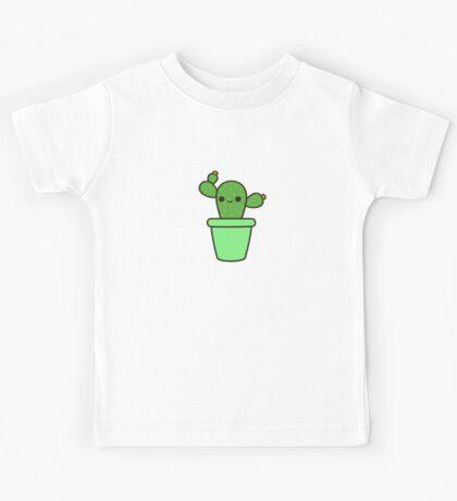 Cute cactus in green pot Kids Clothes