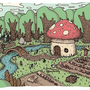 Mushroom home in the forest by bodiehartley