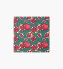 Juicy pomegranate fruits Art Board