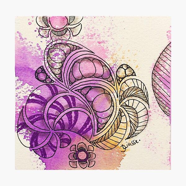 Tangle Art Pattern Love Colored I Fotodruck