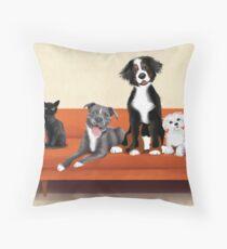 Animal Family Throw Pillow