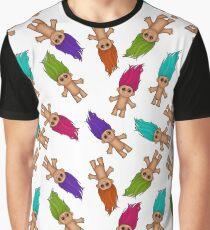 Troll pattern Graphic T-Shirt