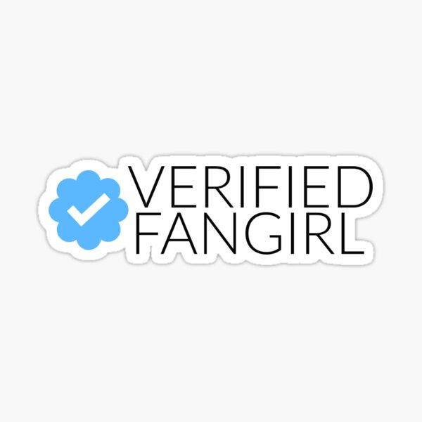 Fangirl verificado Pegatina