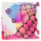 Tangle Art Pattern Love colored II von Diana Linsse