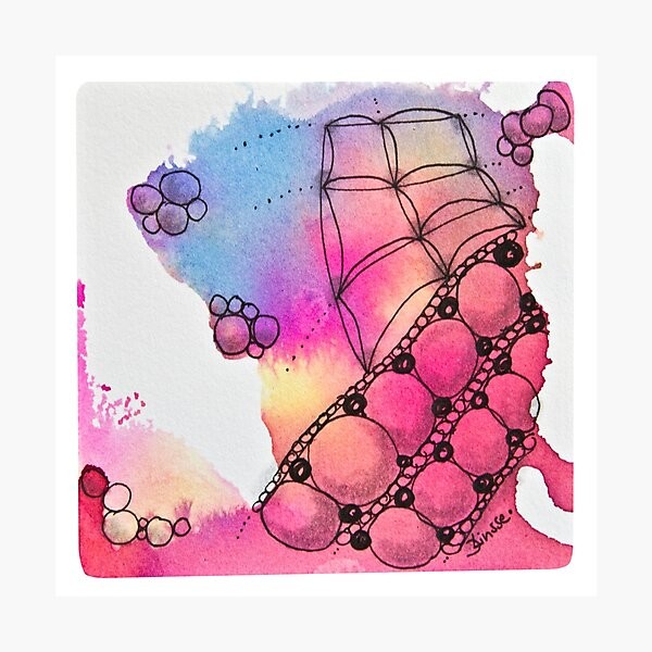 Tangle Art Pattern Love colored II Fotodruck