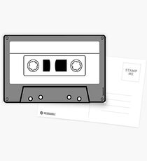 Cassette Tape - Vintage Retro Audio Postcards
