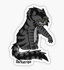 Krieger-Katzen: Darkstripe Aufkleber Sticker