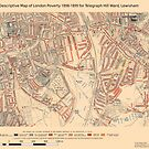 Booth's Map of London Poverty for Telegraph Hill ward, Lewisham by ianturton