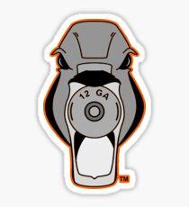 Mallard Down Hunter Orange Logo Sticker
