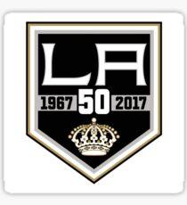 L.A. Kings 50th Anniversary Logo Sticker
