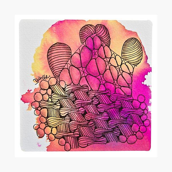 Tangle Art Pattern Love colored III Fotodruck