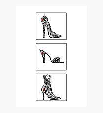 3 shoe doodles Photographic Print