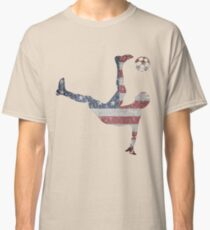 US National Team Bicycle Kick American Flag Soccer Classic T-Shirt