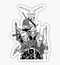 The Infernal Army Black Version Sticker