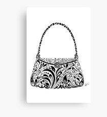 Handbag Doodle Canvas Print