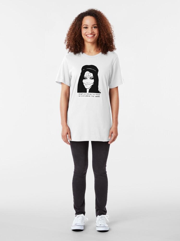 Alternate view of Disturbing the Wars - Peace Girl Slim Fit T-Shirt