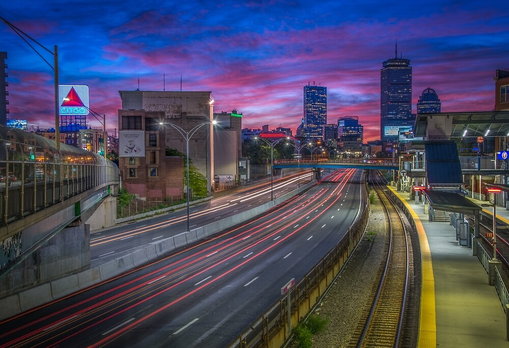 Kenmore Square in Boston, Massachusetts. by mattmacpherson