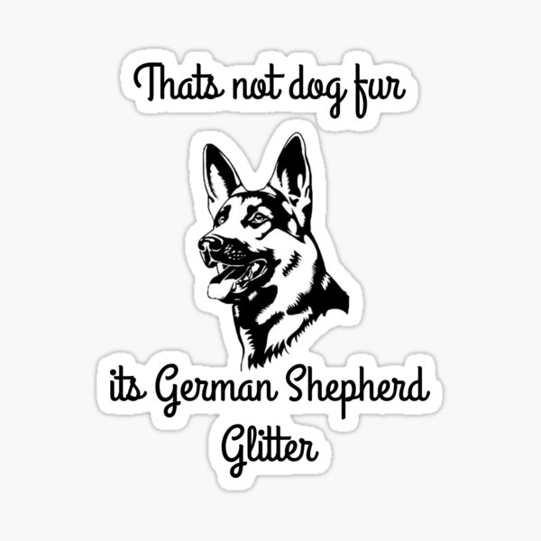 GSD fur Sticker