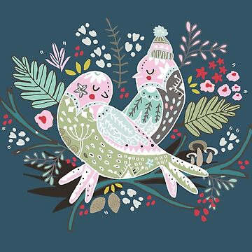 Holiday Birds Love II by elenor27
