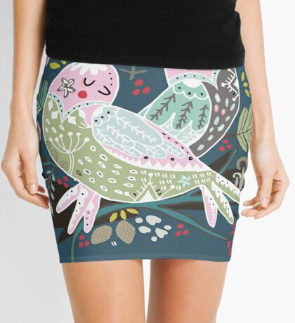 Holiday Birds Love II Mini Skirt