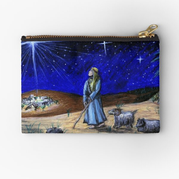 Silent Night Zipper Pouch