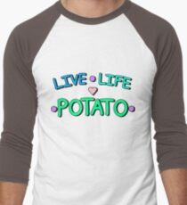 Live - Life - Potato Men's Baseball ¾ T-Shirt