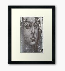 Pencil Portrait Drawing Framed Print