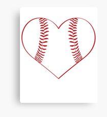 Baseball Heart Canvas Print