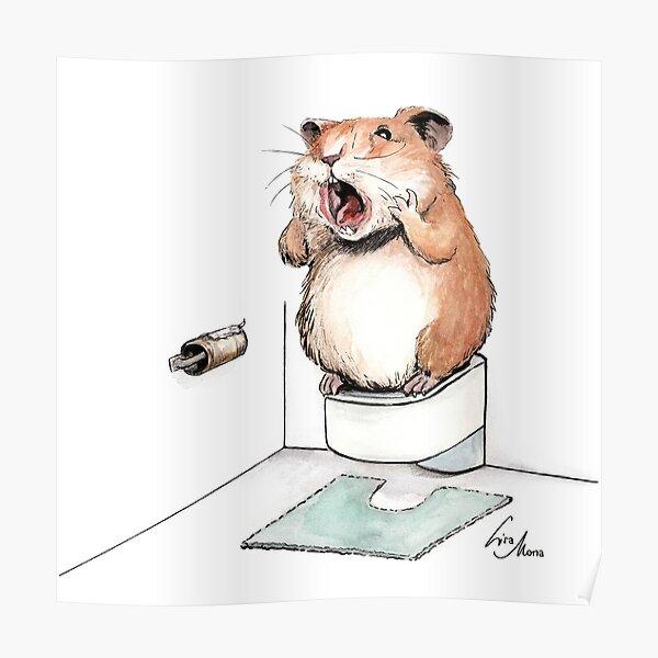 Hamstern von Klopapier Poster