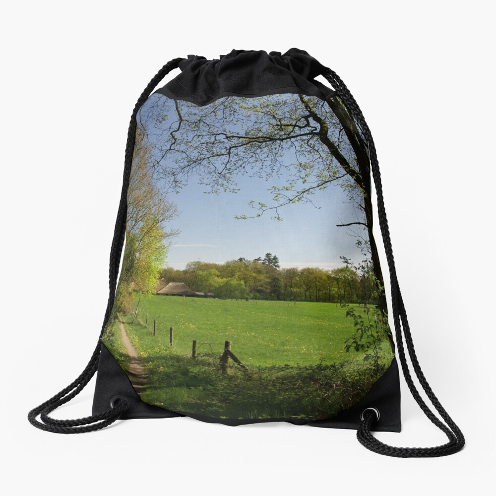 Rural View Drawstring Bag
