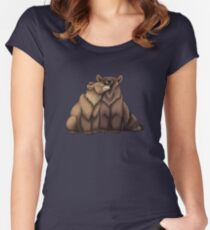 Bear Couple Women's Fitted Scoop T-Shirt