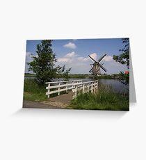 Windmill  Kinderdijk  Greeting Card