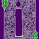 Celtic Knotwork Candle - Purple by Rose Gerard