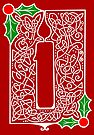 Celtic Knotwork Candle - Red by Rose Gerard