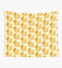 Crazy Duck Lady Wall Tapestry