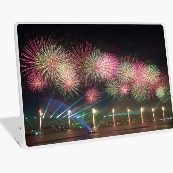 Australia Day Fireworks on the Swan Laptop Skin