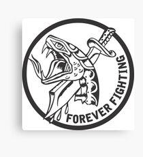 Forever Fighting, Snake & Dagger Tattoo  Canvas Print