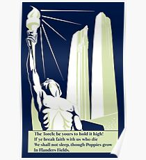 The torch, in Flanders fields Poster