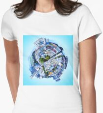small city Womens Fitted T-Shirt