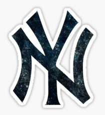 °BASEBALL° NY Yankees B&W Logo Sticker