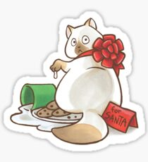 For Santa Cat Sticker