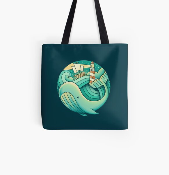 Into the Ocean All Over Print Tote Bag