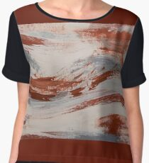 Rust, Slate and Earth Chiffon Top