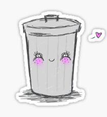 Happy Trashcan Sticker