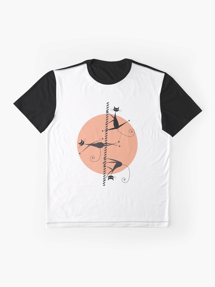 Vista alternativa de Camiseta gráfica Gatos bailarines