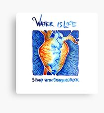 Water is Life: Stand with Standing Rock Metal Print